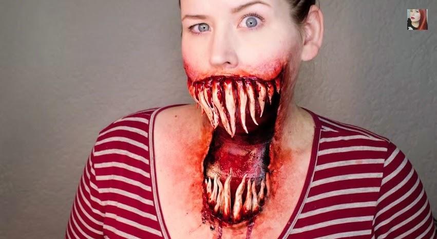 come truccarsi ad halloween, halloween mostro, halloween trucco bocca, halloween make up tutorial video, goldenstarling