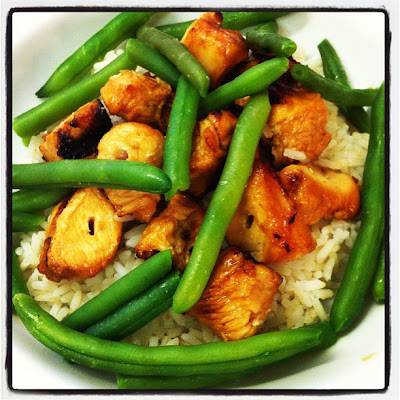 honey lime chicken over rice
