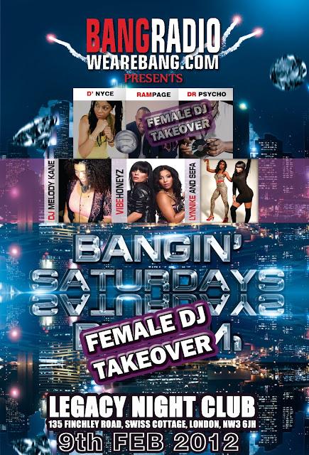 bang radio event female dj takeover