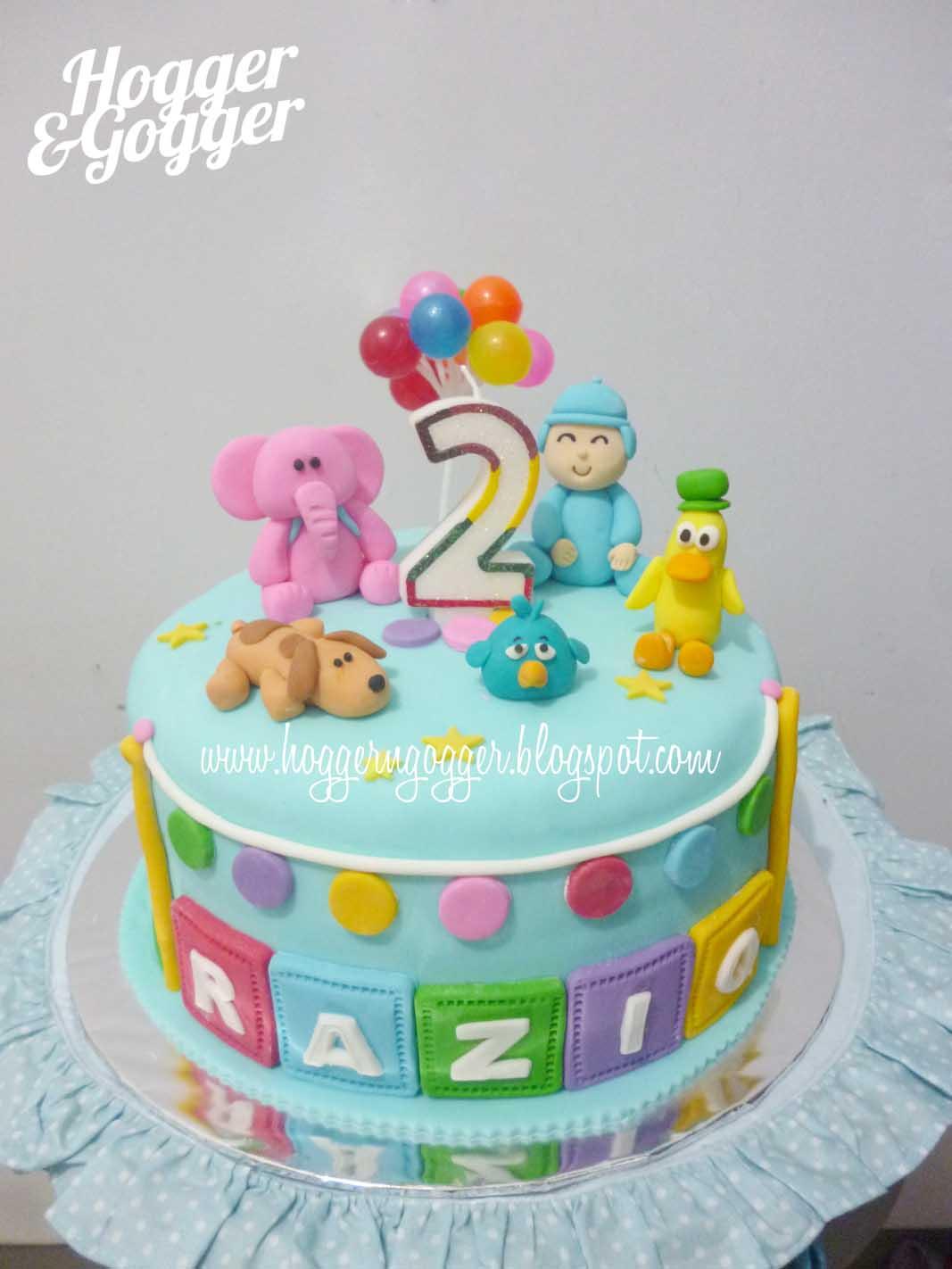 Hoggergogger Pocoyo Birthday Cake