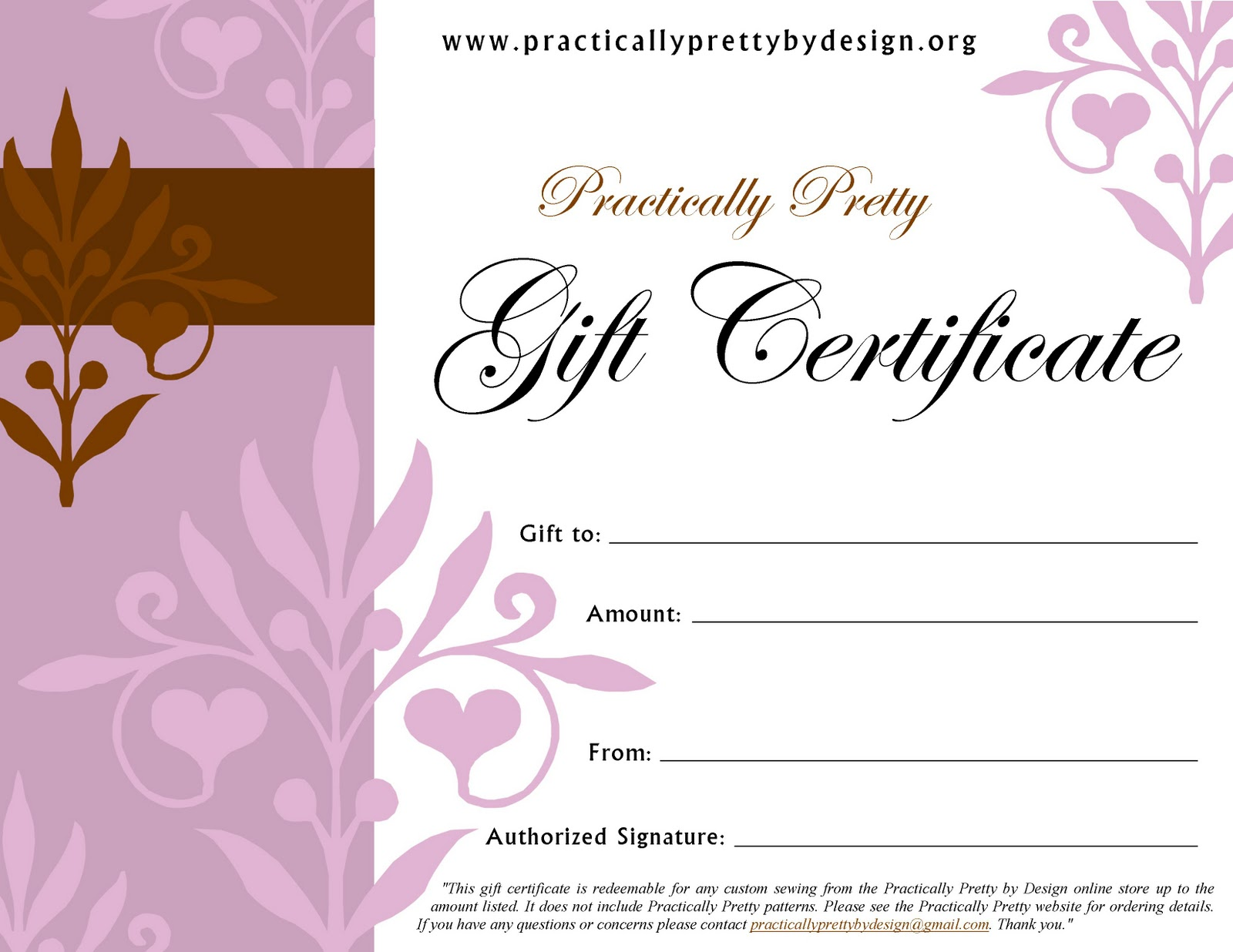 practically pretty by design gift certificates