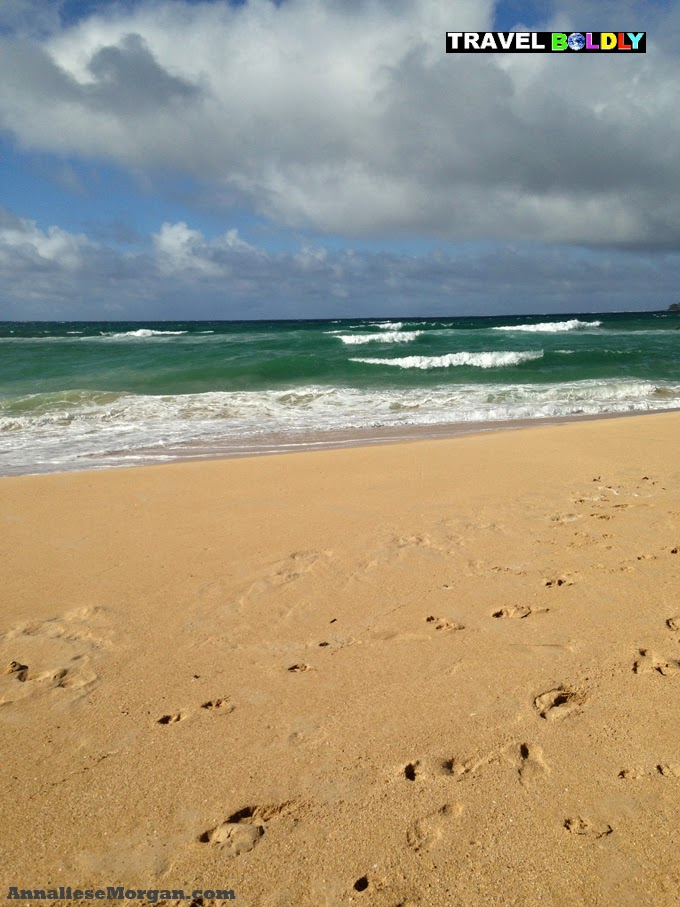 One of Annaliese's favorite beaches Baldwin Beach Paia, Maui, Hawaii. photo by Annaliese Morgan for Travel Boldly