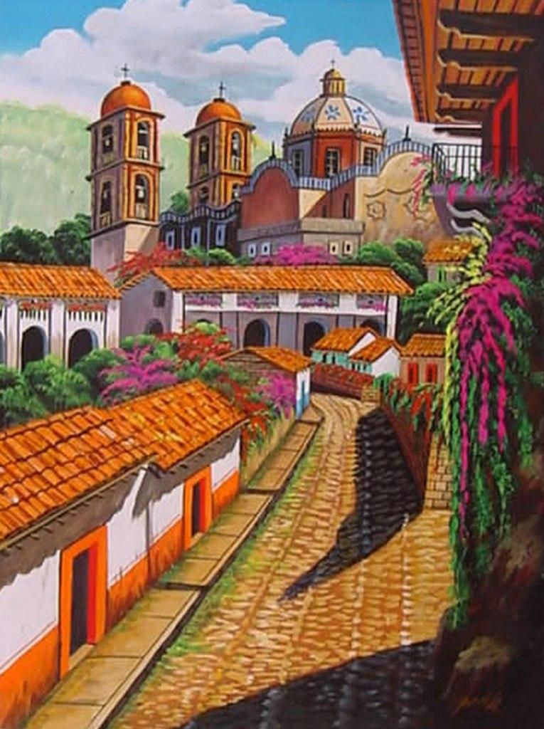 Im genes arte pinturas que es el paisaje art stico for Cuadros mexicanos rusticos