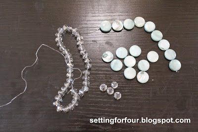 Beads used to make DIY Sunburst Mirror from Setting for Four