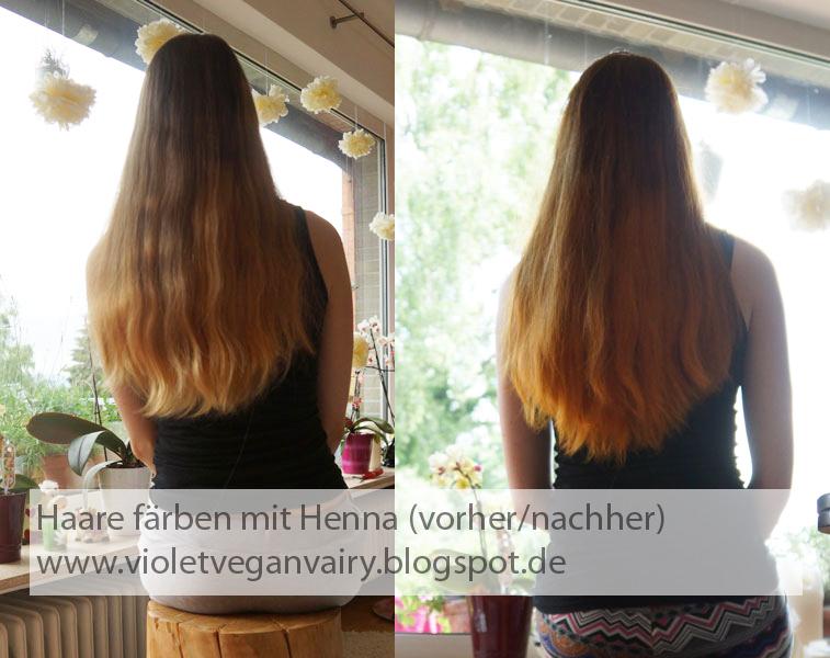 VioletVeganVair(y): Haare mit Henna färben - ein duftes