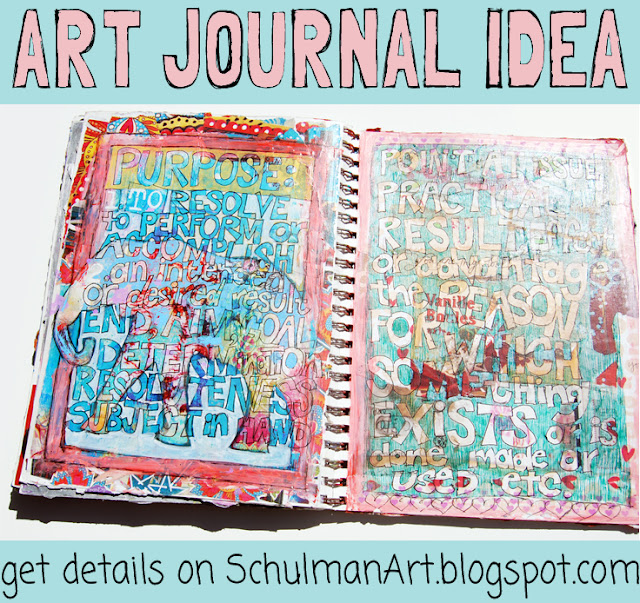 art journal pages found at http://schulmanart.blogspot.com/2015/07/art-journal-idea-animal-totems.html