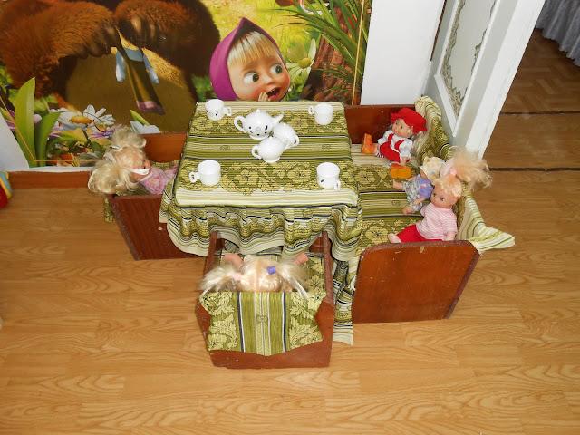 кукольная мебель в детском саду