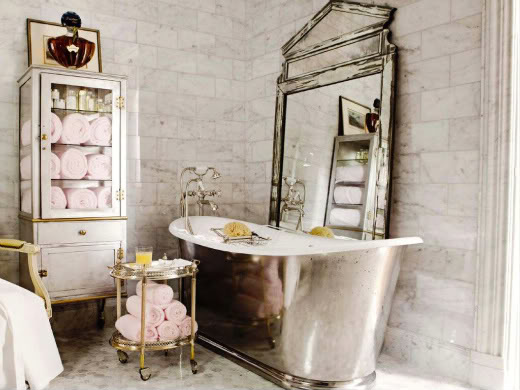 Parisian bathroom | Daily Dream Decor
