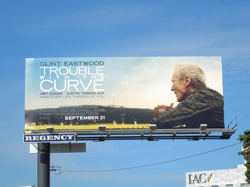 Trouble with the Curve movie billboard