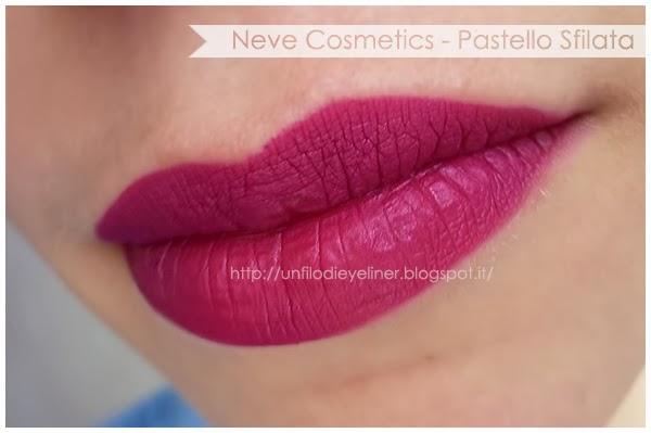 swatch sfilata pastello labbra neve cosmetics