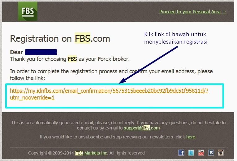 Konfirmasi Email FBS Forex