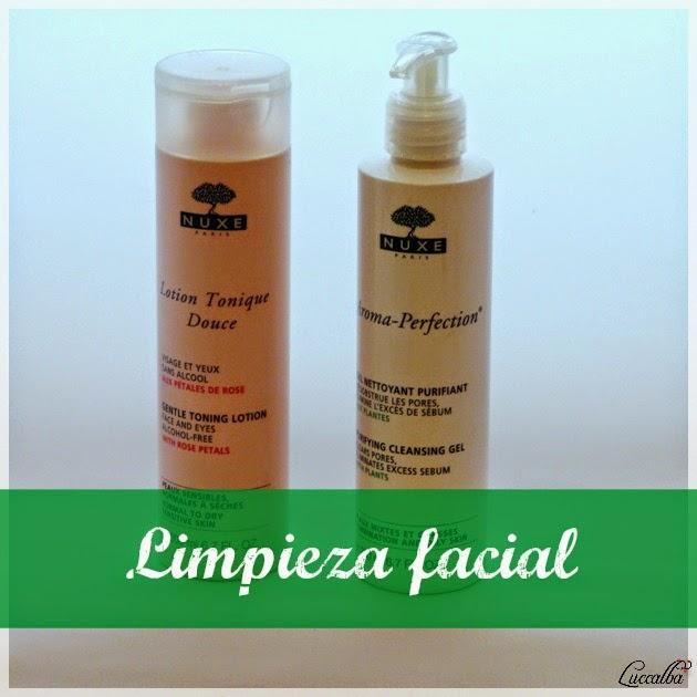 Productos Nuxe para la limpieza del rostro
