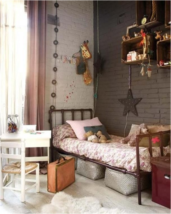 Key interiors by shinay vintage style teen girls bedroom for Bedroom inspiration vintage