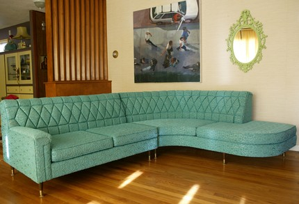 retro aqua sectional Just Peachy, Darling