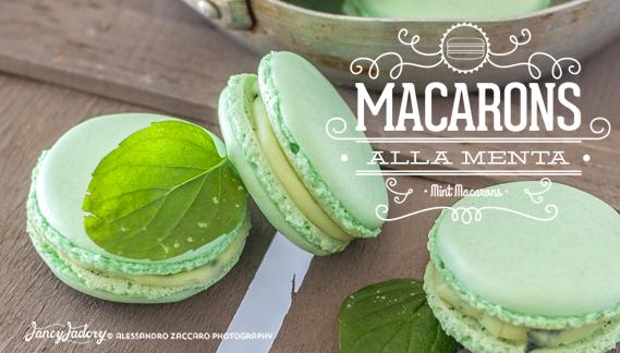 macarons alla menta • mint macarons