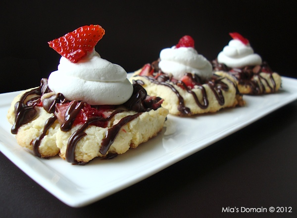 Almond Chocolate Strawberry Shortcake