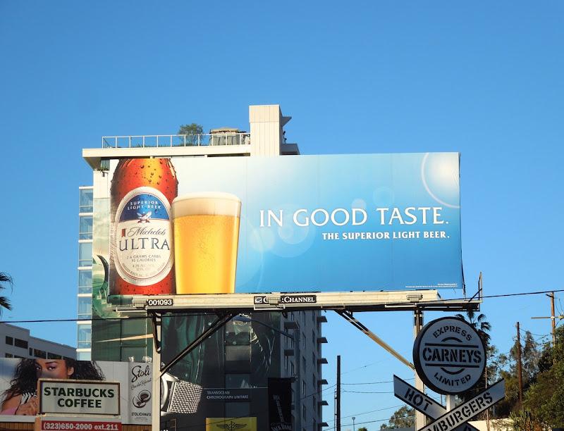 Michelob Ultra beer billboard Sunset Strip
