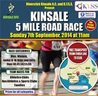 7th Sept...Kinsale 5m road race