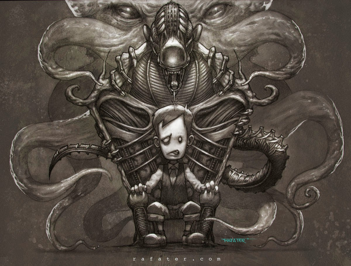 Rafater Young Lovecraft Kthulu Alien