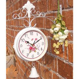 Reloj de hierro de doble cara reloj de pared con campana - Reloj de pared original ...