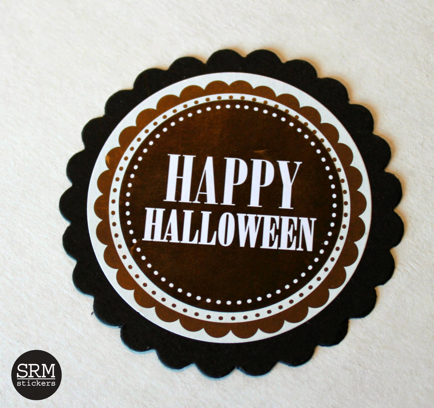 SRM Stickers Blog - Ruffled Crepe Paper Tutorial by Shantaie - #embossed #glassine #bags #Halloween, Labels #stickers #twine #treat bags #favors