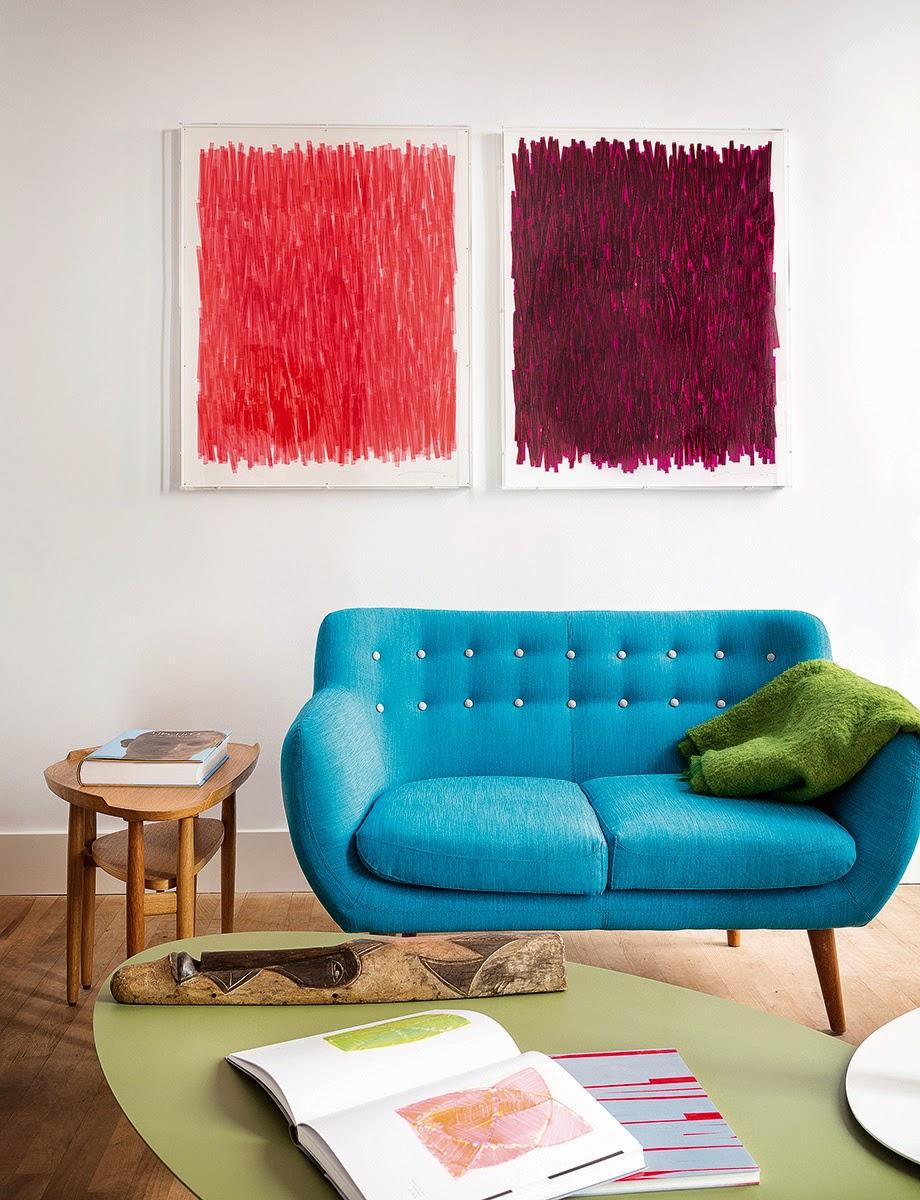 Farbenfrohes Mid-Century Design plus Designklassiker in Madrid - gemütliches Wohnen und Leben