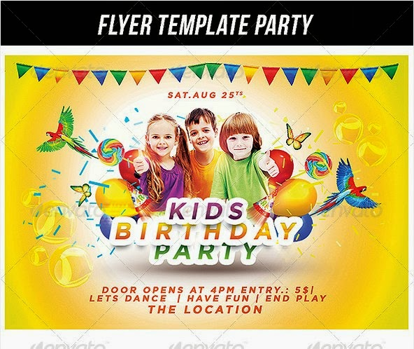10 best creative kids birthday party flyers poster freebies blog