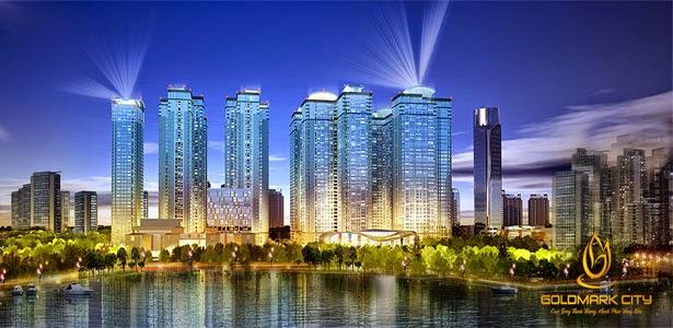 Goldmark city 136 Hồ Tùng Mậu không gian xanh