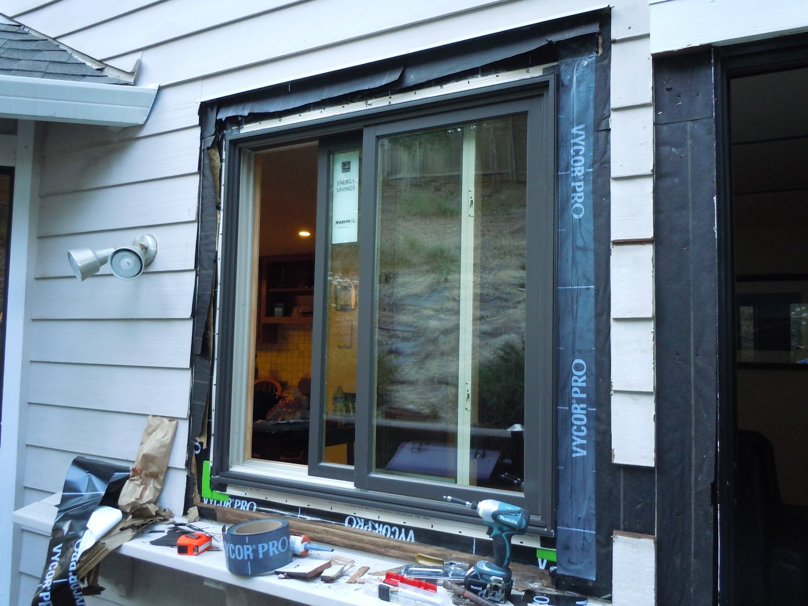 Marvin Window And Door Installation With Vycor Pro Flashing OT Glass