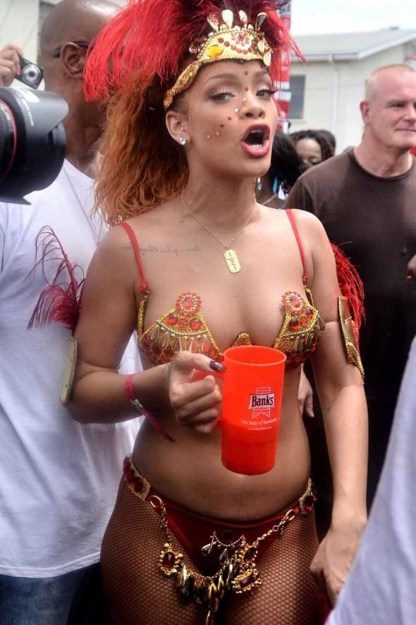 rihana topless