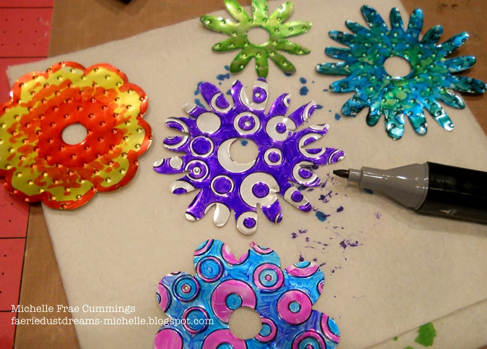 Faerie Dust Dreams How To Make Flowers From Soda Cans