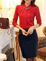 Блузки Красные Черным