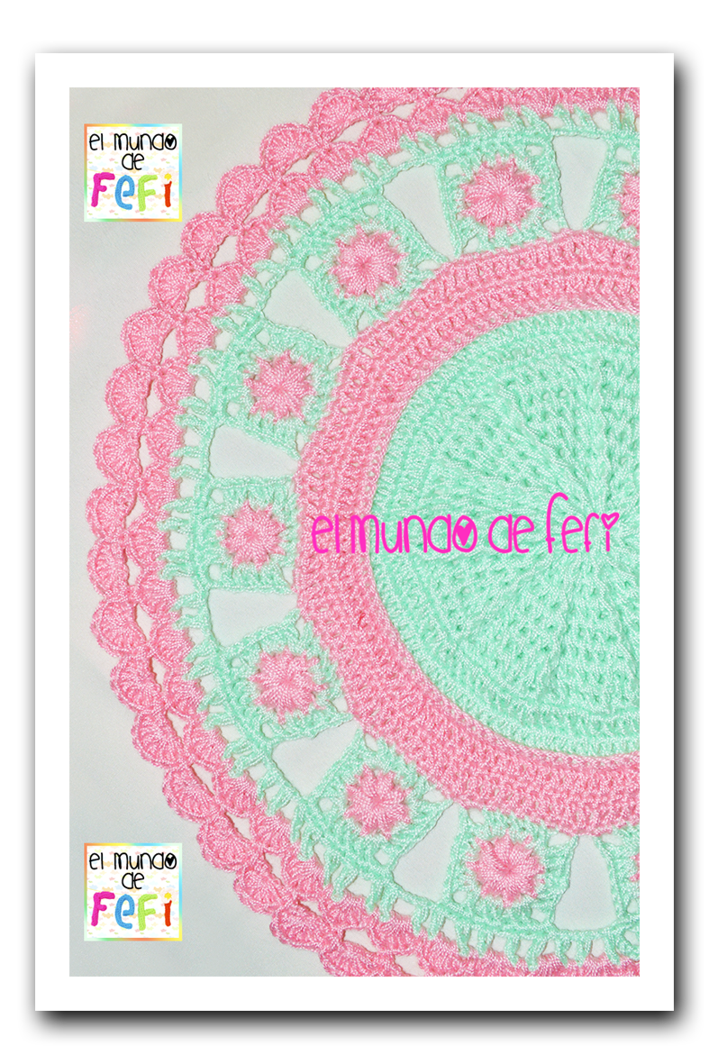El Mundo De Fefi Alfombra Tejida Al Crochet
