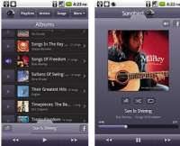sentire musica Android