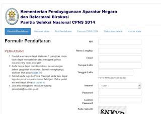 langkah pendaftaran online