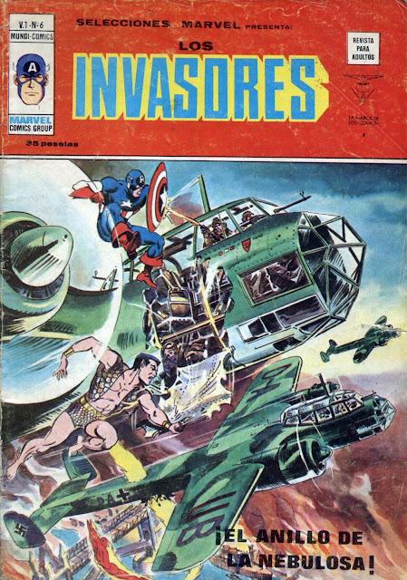 Portada de Los Invasores-Selecciones Marvel Volumen 1 Nº 6 Ediciones Vértice