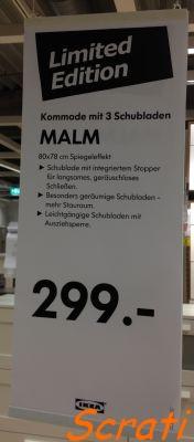 Scrati Ikea Kommode Malm Limited Edition Mit Spiegeleffekt