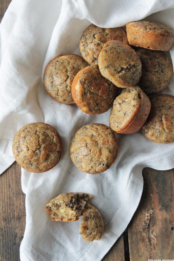 muffins con olive e feta