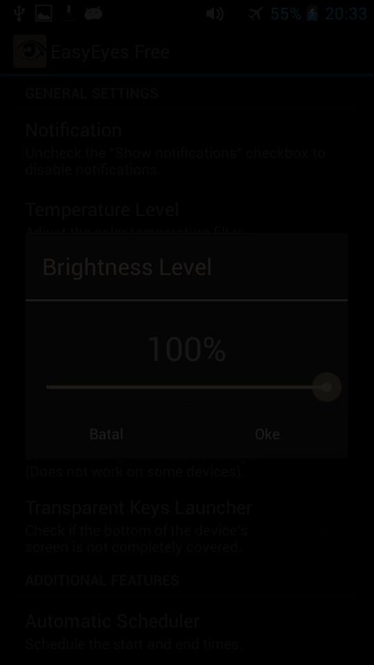 EasyEyes Free, Aplikasi peredup layar Android