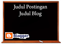 judul blog dan judul postingan