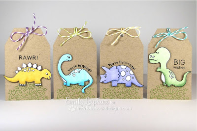Dinosaur Tags for Newton's Nook Designs