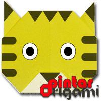 Cara Membuat Origami Wajah Harimau