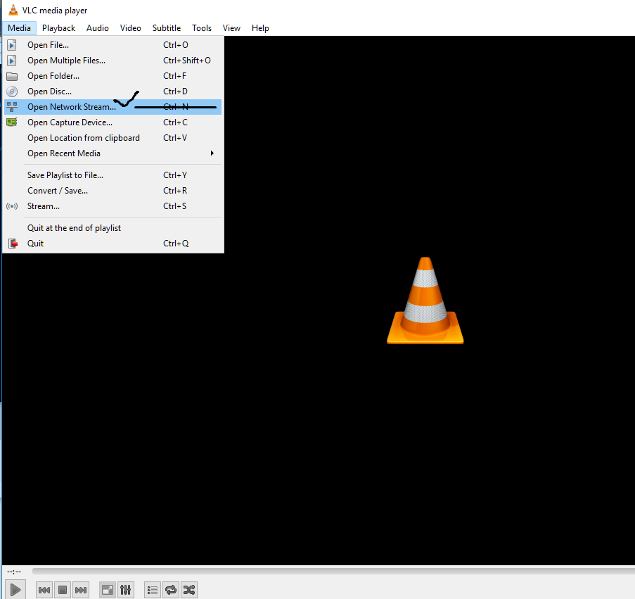 stream from phone to pc vlc