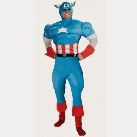 Disfraz Capitán América Musculoso