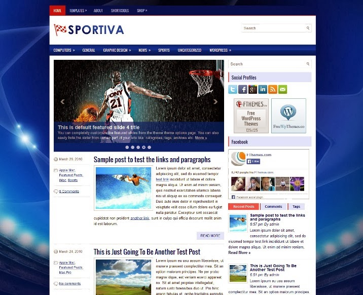 Sportiva Free WordPress Theme