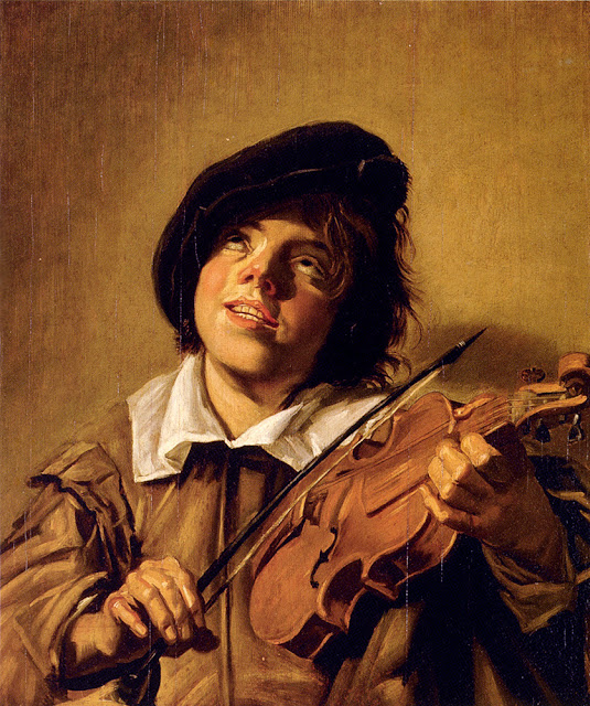 Boy Playing A Violin ,Frans Hals, genre painting