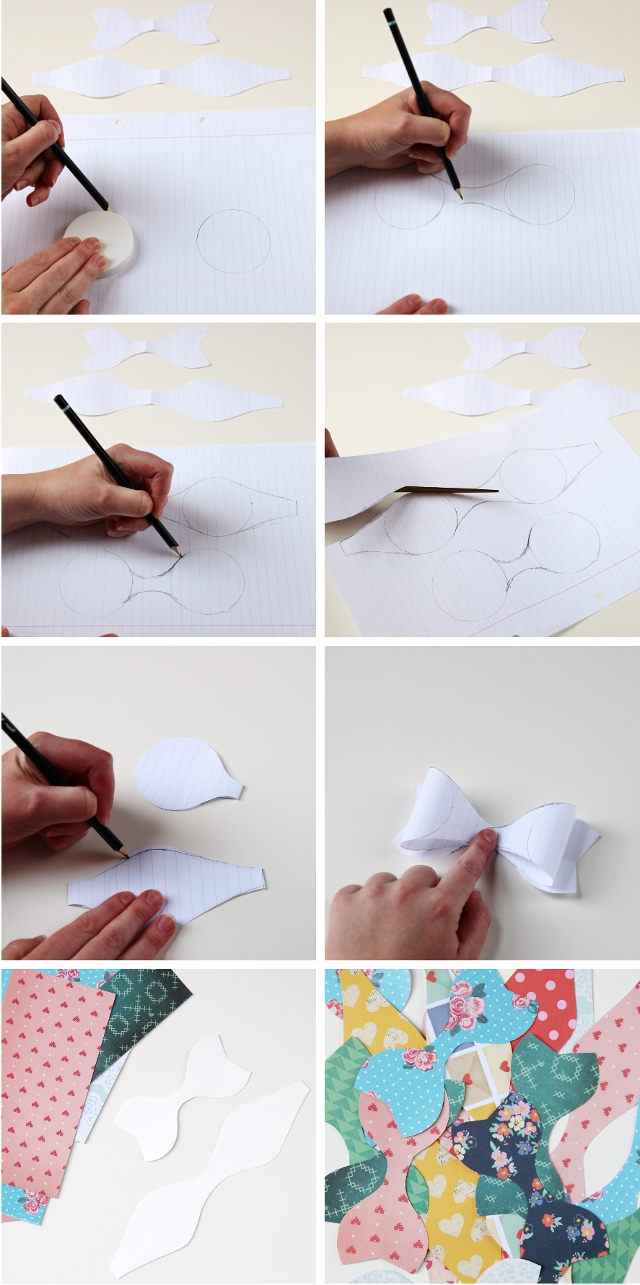 Making a paper bow template