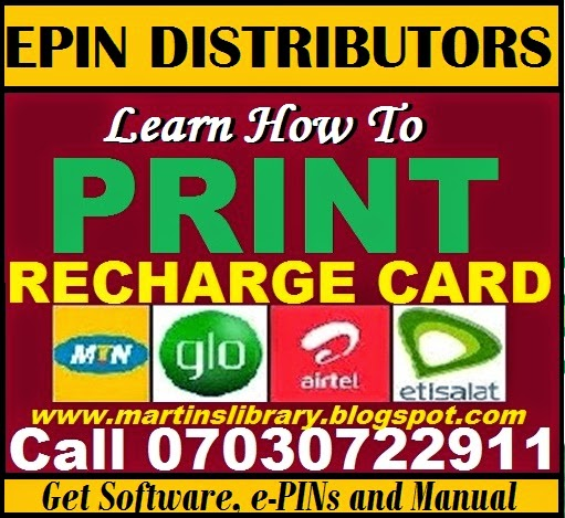 LEARN HOW TO PRINT RECHARGE CARDN - BUY SOFTWARE AND PINS