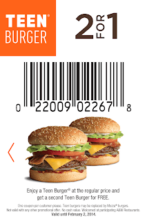 A&W Coupons 2 for 1 Teen Burger
