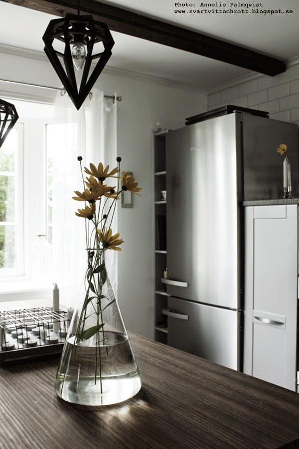e-kolv, kemiglas, kemi, glas, glaset, vas, vasen, vaser, köksö, kök, industriellt kök, industristil, industrikänsla, stumpastake, miele kylskåp, hth kök, gråa köksluckor,